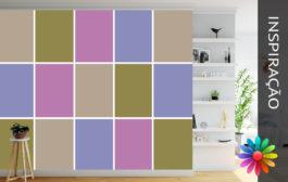Decoração de Paredes – Quadrados Coloridos