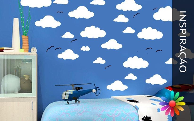 Decoração de Paredes – Céu com Nuvens