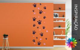 Decoração de Paredes – Pegadas de Gatos