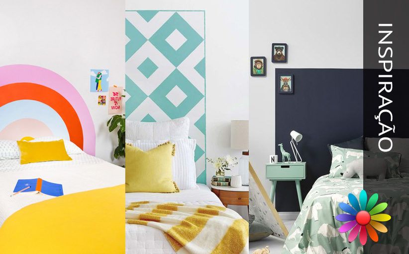 Tendência do Ano – Cabeceira pintada, uma ideia de decoração para mudar facilmente o humor do seu quarto