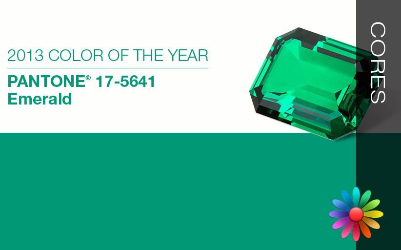 Verde Esmeralda ( Cor Pantone 2013)