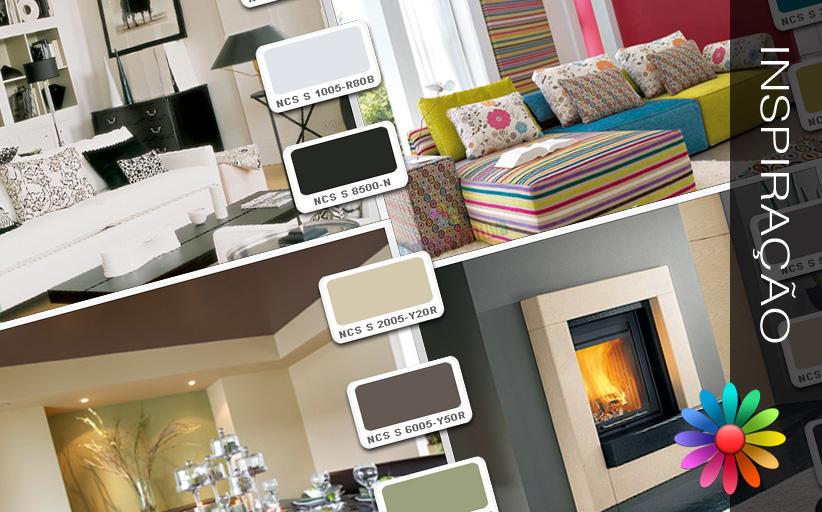 Cores – Ideias para a Sua Casa – Sala