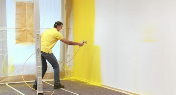 Pintura de paredes com equipamento airless